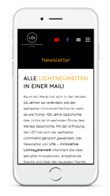 Lifa - Newsletter Smartphone