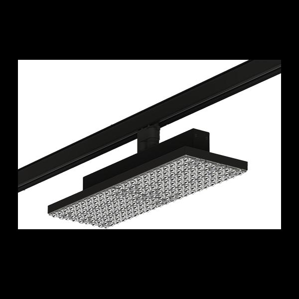 Das Tracklight DIAMANT TRACK R für die Gang- oder Allgemeinbeleuchtung im Handel.
