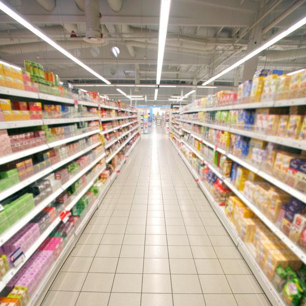 Anwendung Supermarkt des Lichtbandsystemes DIAMANT PRO