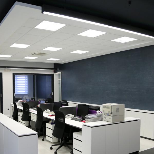 Anwendung der WEGA-Panels im Bürogebäude